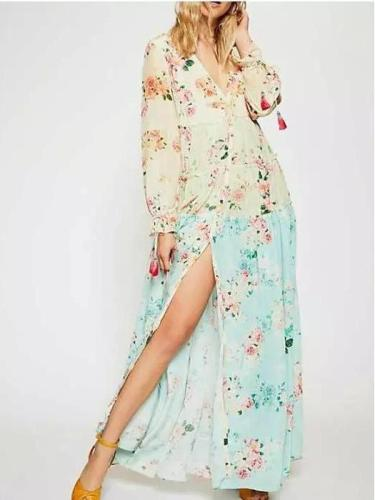 Vocation Floral Gored Maxi Dresses