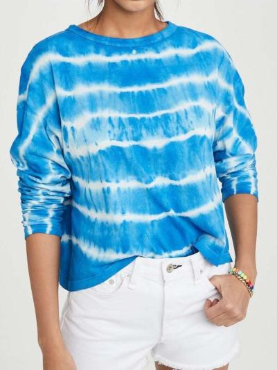 Fashion Casual Stripe Round neck Long sleeve T-Shirts