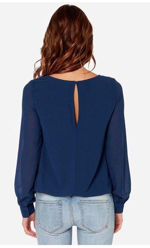 Fashion Loose Long sleeve Blouses