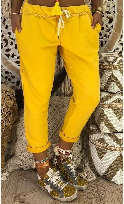 Fashion Casual Pure Lacing Harem Pants