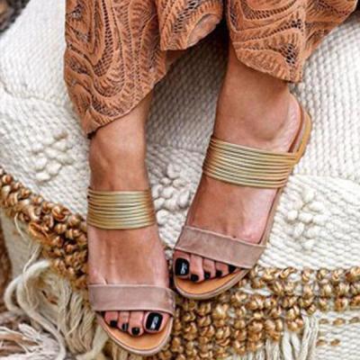 Women Peep Toe Flat shoes