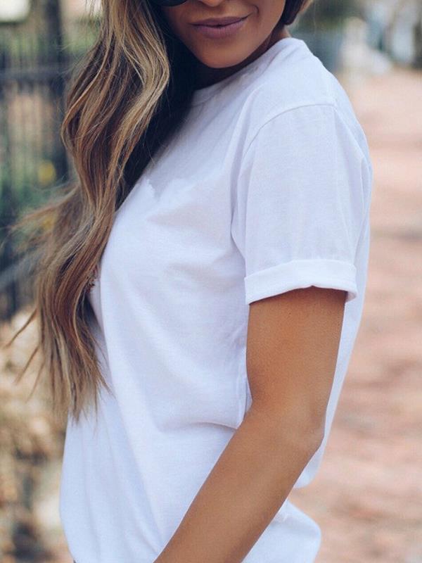Women Casual Cat Print Cotton T-Shirts