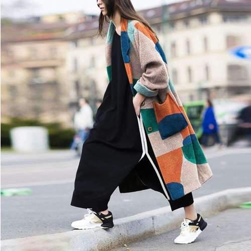 Fashion Print Long sleeve Coat