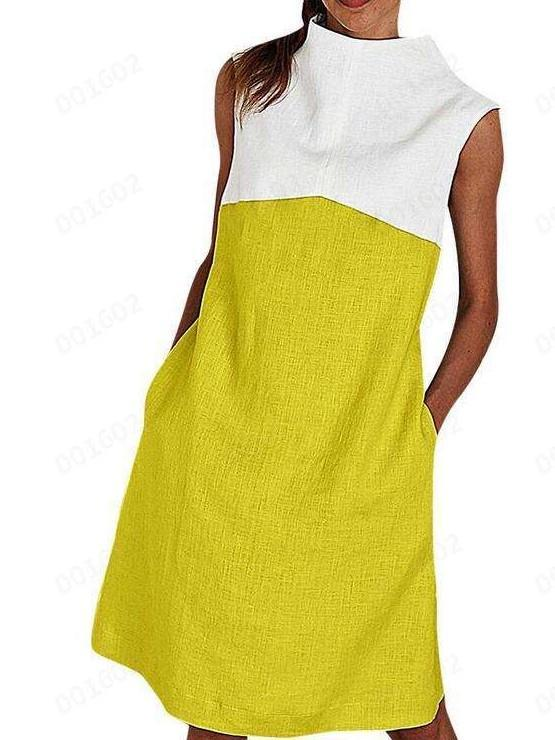 Casual Gored Sleeveless Round neck Maxi Dresses