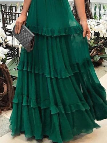 Elegant strapless green women long evening dresses