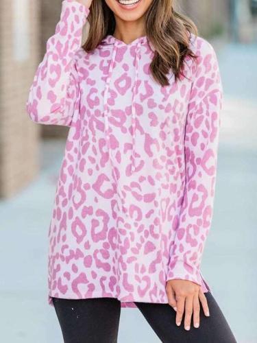 Casual Print Vent Long sleeve Hoodies Sweatshirts