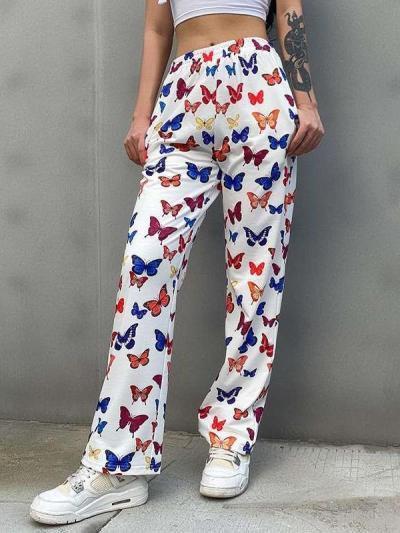 Fashion Casual Butterfly print Yoga Pants