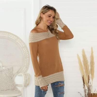 Casual Irregular V neck Gored Long sleeve T-Shirts