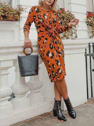 Fashion Chic Orange Woman Bodycon Dresses