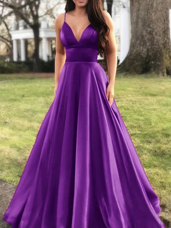 Women Strap sexy sleeveless long evening dresses