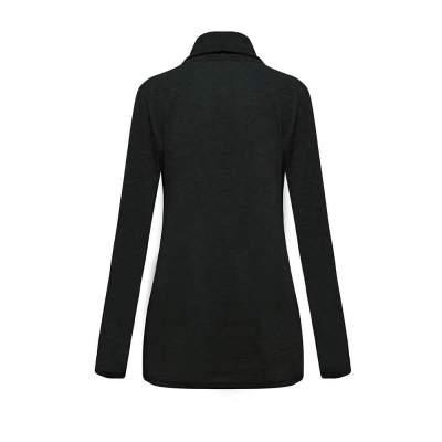 Casual Pure Zipper Irregular Hoodies & Sweatshirts