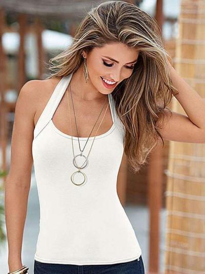 Fashion Sleeveless Halt Vests