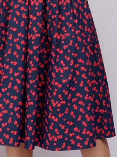 Small Flower Printed Skater Dresses