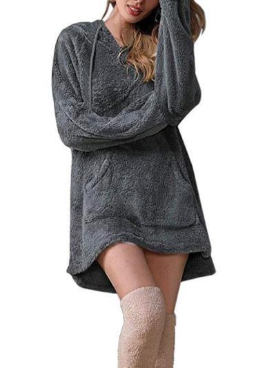 Big size hooded pocket plain hoodies