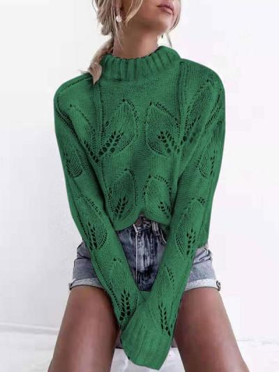 Sexy cut-out round neck women sweaters
