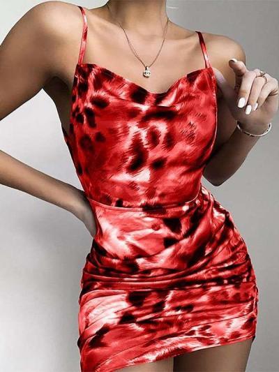 Sexy Leopard print Vest Bodycon Dresses