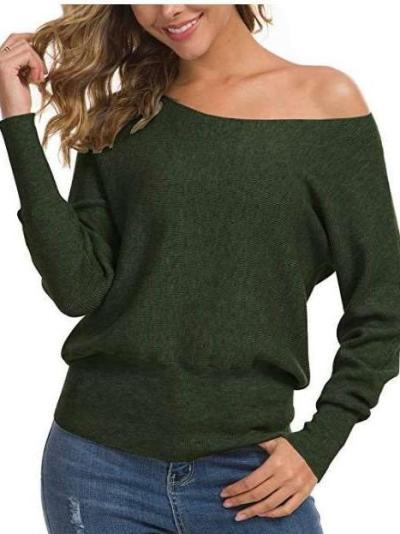 Pure Long sleeve One shoulder Sweaters