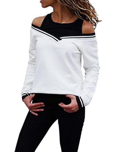 Round Neck Off Shoulder Special Design Woman Sweatshirt