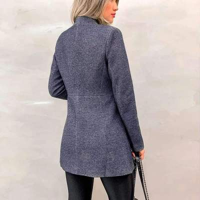 Fashion Pure Stand collar Wool Coats