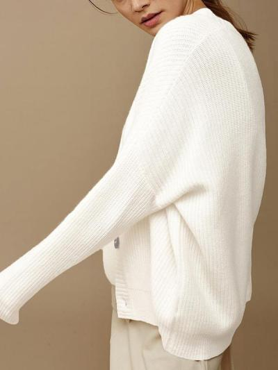 Woman stylish long sleeve botton sweater cardigans