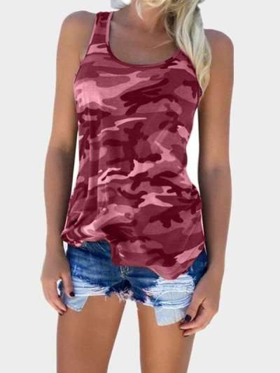 Fashion Camouflage Sleeveless Vests