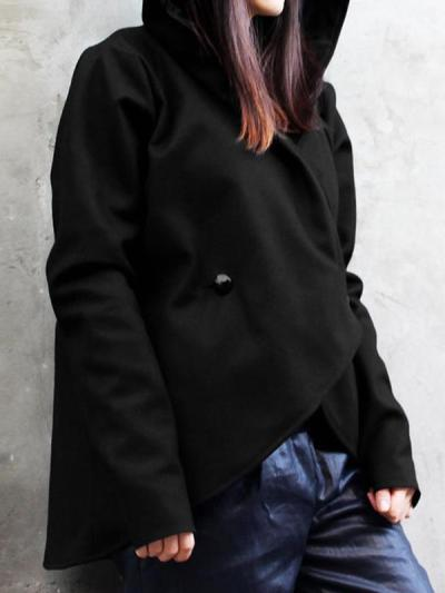 Loose casual plus size hooded coats