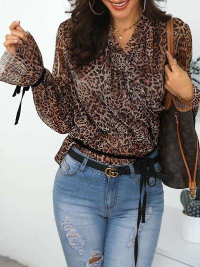 Fashion Leopard print Long sleeve T-Shirts