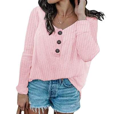 Fashion Round neck Knit Plus Long sleeve T-Shirts