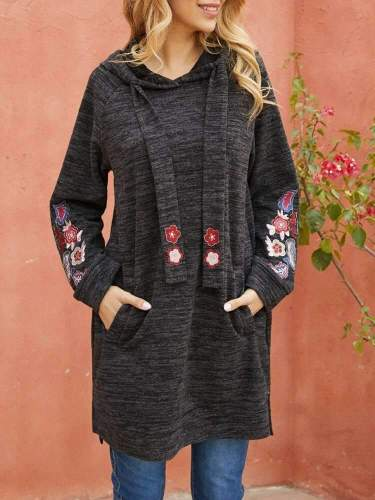 Fashion Casual Print Long sleeve Hoodies Long Sweatshirts
