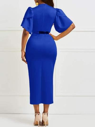 Sexy Round neck Short sleeve Bodycon Dresses