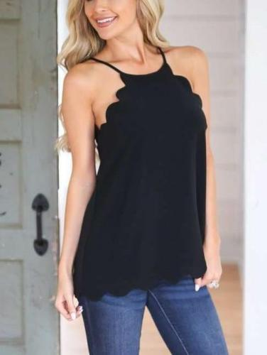 Lace Sleeveless Vest T-Shirts