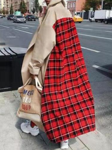 Fashion Red Super Long Women Trench Coat
