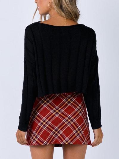 Fashionable plaid zipper short skirts