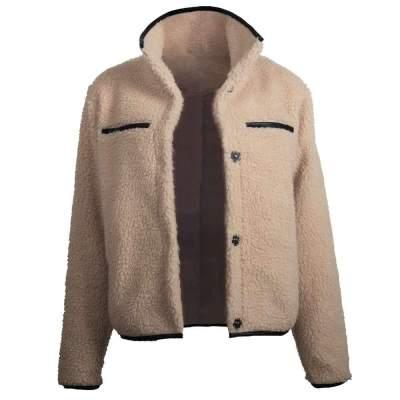 Fashion High collar Plush Short  Coats