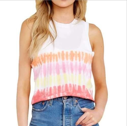 Fashion Round neck Print Sleeveless T-Shirts