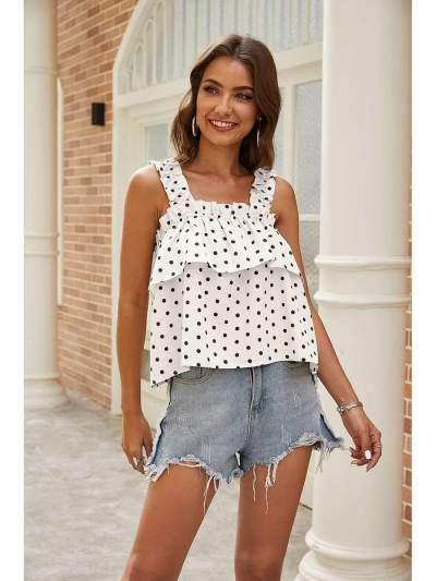 Fashion Casual Vest Falbala T-Shirts