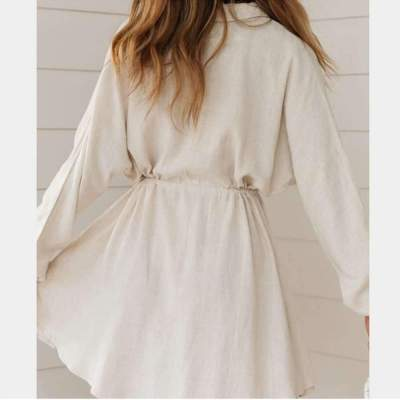 Loose Casual Long sleeve Lacing Shirt Skater Dresses