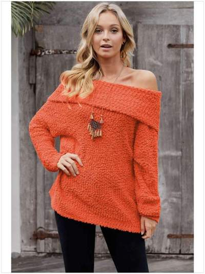 Sexy Pure Off shoulder Knit Sweaters