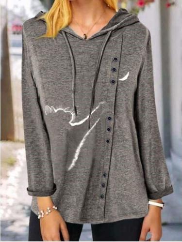 Fashion Casual Print Long sleeve Hoodies Sweatshirts