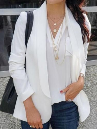 Women plain casual daily blazer coats