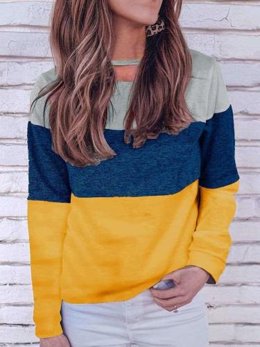 Loose Gored Long sleeve Knit T-Shirts