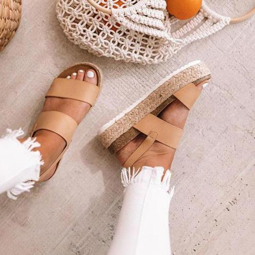 Women Casual Espadrille Platform Sandals