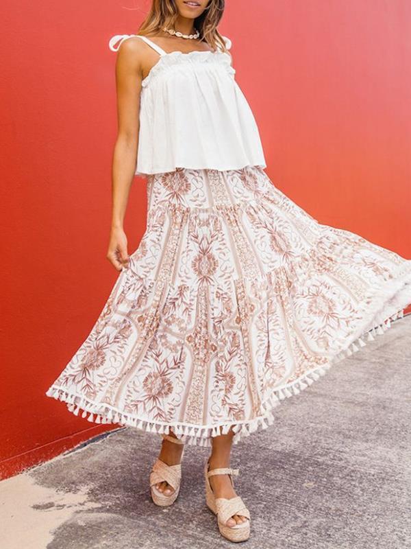 Bohemia Style Long Printed Women Skirts