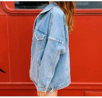 Women Long Sleeve Loose Denim Coats