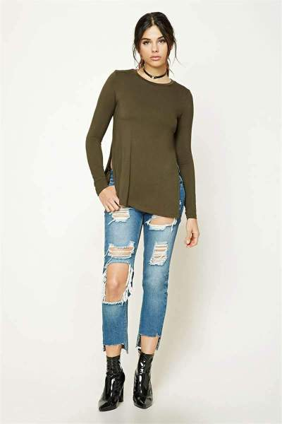 Pure Vent Long sleeve Round neck Sweaters