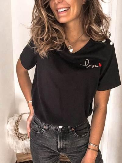 Love Printed short sleeve T-shirts