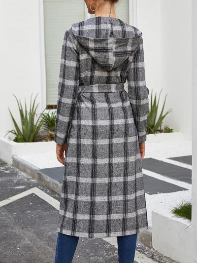 Fashion turn down collar women long coats
