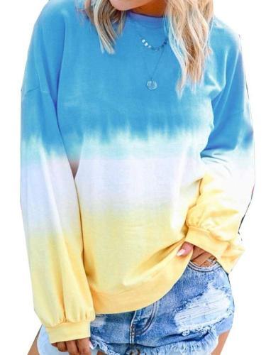 Loose Plus Print Cotton Long sleeve  Sweatshirts