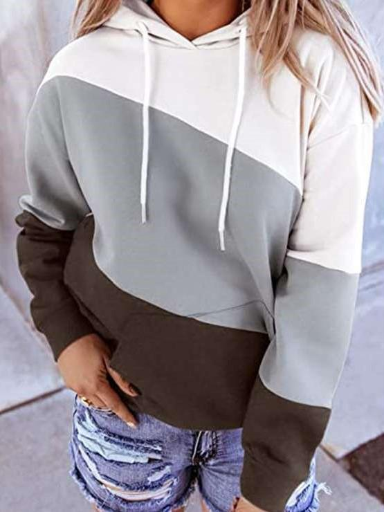 Fashion Gored Long sleeve Hoodies  Sweatshirts