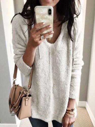 Fashion Loose Plush Long sleeve Hoodies Sweatshirts